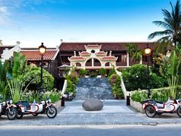 La façade de l'hôtel Victoria Hoi An situé au Vietnam