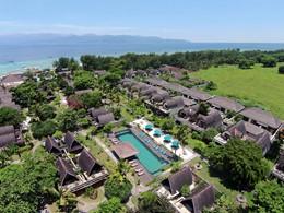 Vue aérienne de l'hôtel Vila Ombak à Lombok