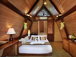 Traditional Lumbung Hut de l'hôtel Vila Ombak
