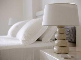 Détail de la décoration de l'hôtel Villa Marandi Luxury Suites en Grèce