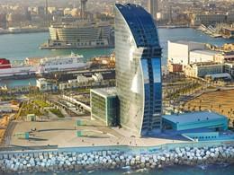 Vue aérienne de l'hôtel W Barcelone situé en Espagne