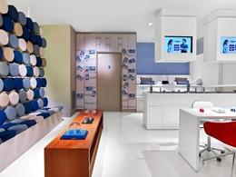 Salon de Manicure et Pédicure de l'hôtel 5 étoiles W Barcelone en Espagne