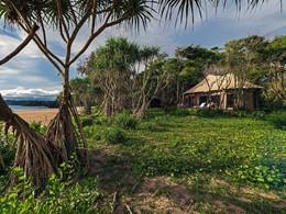 Vue de la Tented Beach Villa