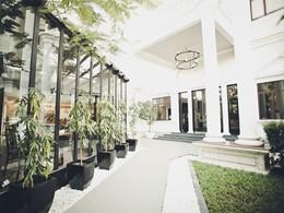 L'entrée du White Mansion, une superbe adresse au charme colonial