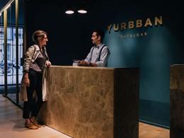 La réception de l'hôtel Yurbban Trafalgar en Espagne
