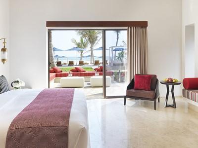 Deluxe Beach View Room de l'Al Baleed Resort Salalah