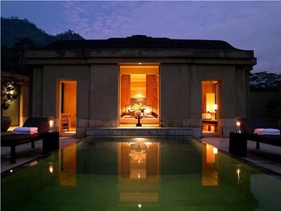 Garden Pool Suite de l'hôtel Amanjiwo, à Java
