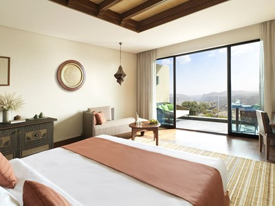 Deluxe Canyon View Room de l'Anantara Al Jabal Al Akhdar