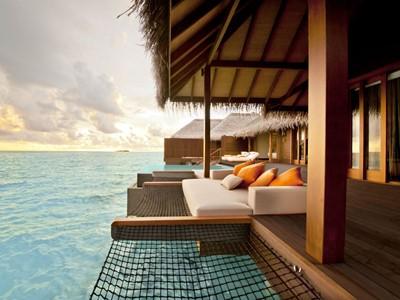 La magnifique Villa Sunset Ocean Family Suite aux Maldives