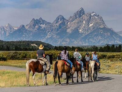 Balade à cheval dans Grand Teton