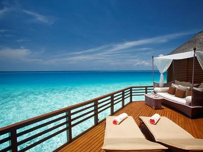 Water Villa de l'hôtel Baros aux Maldives