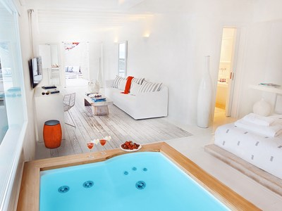 Suite Honeymoon Avec Piscine Privée du Cavo Tagoo