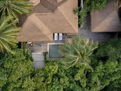 Vue aérienne de la Beach Villa