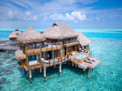 Vue de la Presidential Overwater Villa