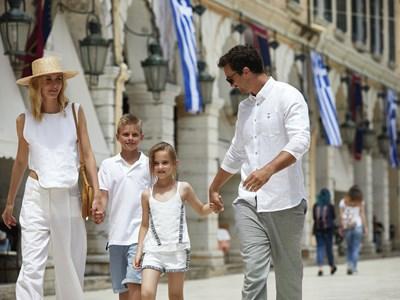 Vacances en famille à Corfou