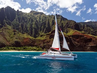 Croisière en catamaran le long de la Na Pali Coast