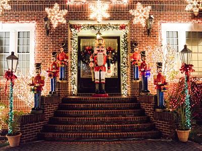 Découverte des décorations de Noël à Brooklyn