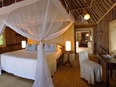 Les superbes chambres en toute sobriété du &Beyond Mnemba Island