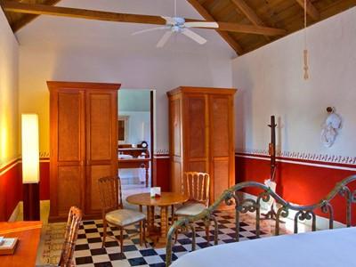 Larger Guest Room de l'Hacienda Temozon au Mexique