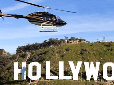 Hollywood vu du ciel