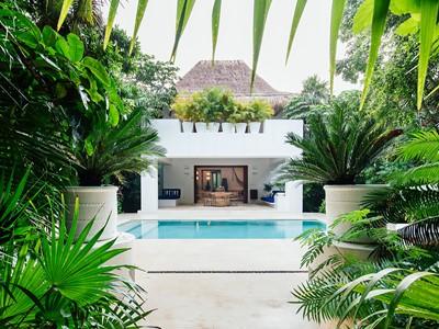 Pool Villa de l'hôtel Esencia situé au Mexique