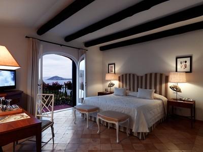 Chambre Vue Mer de l'hôtel Il Pelicano en Italie