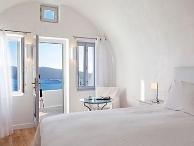 Chambre Double de l'hôtel Katikies en Grèce