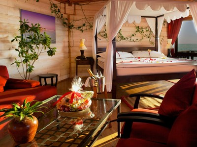 Sangu Water Suite de l'hôtel Kuredu Island Resort