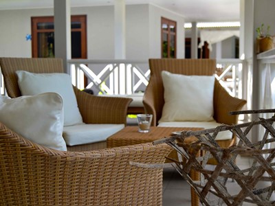 La terrasse de la Private Villa de La Belle Tortue Lodge