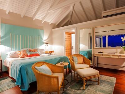 Suite Vue Jardin de l'hôtel Guanahani à St Barth