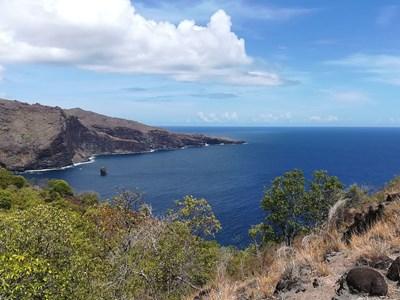 Le Tiki souriant et les vallées d'Hanaiapa et d'Hanatekuua à Hiva Oa