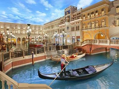 Les gondoles du Venetian