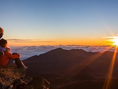 Lever de soleil au volcan Haleakala