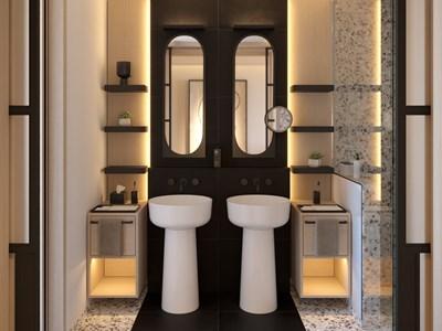 La salle de bain, aux allures de palace