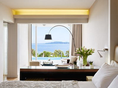 Suite Two Bedrooms with Private Pool Sea View du Marbella Corfu