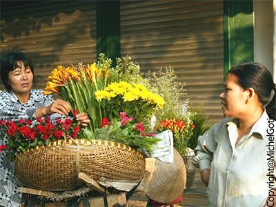 Marché des fleurs Quang Ba