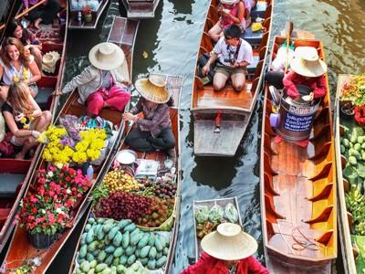 Marché flottant de Damnern Saduak