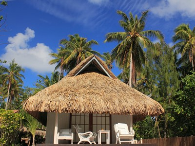 Vue d'un bungalow des Relais de Josephine