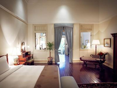 Palm Court de l'hôtel Raffles à Singapour