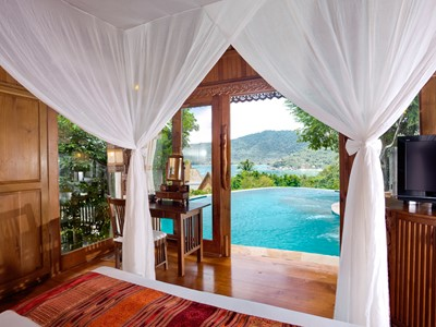 Seaview pool villa suite du Santhiya Resort & Spa