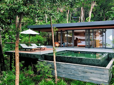 Ocean Pool Villa Suite du Six Senses Krabey Island