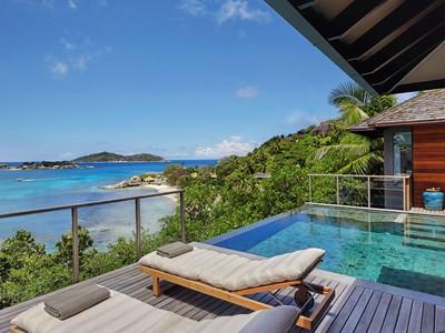 Ocean Front Pool Villa du Six Senses Zil Pasyon