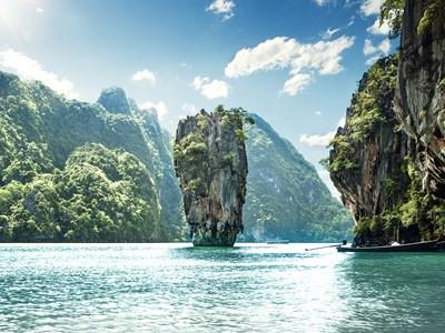 Speed boat dans la Baie de Phang Nga