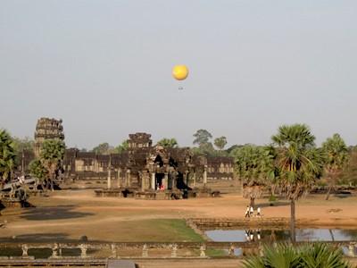 Survol d'Angkor en ballon
