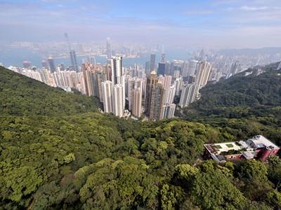 Vue panoramique depuis le sommet de The Peak