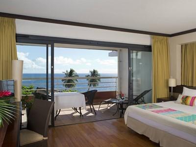 Deluxe Ocean View room de l'hôtel Tahiti Pearl en Polynésie