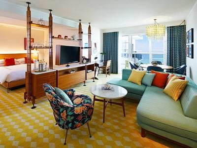 La chambre Deluxe Miami Skyline view de l'hôtel Confidante