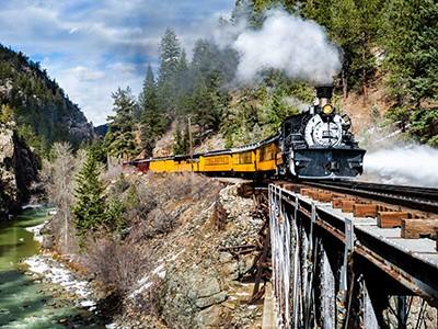 Train historique entre Durango & Silverton
