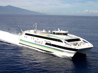 Traversée en bateau Mooréa - Tahiti
