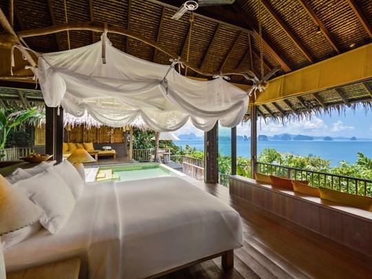 La chambre de la Ocean panorama pool villa